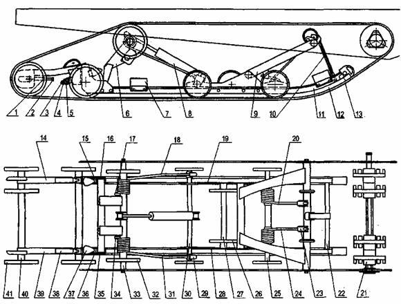 Схема подвески рысь 500